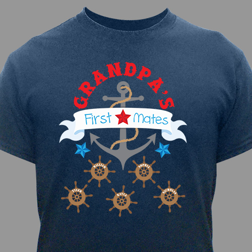 First Mates T-Shirt | Grandpa Shirts