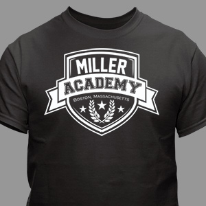 Personalized Academy T-Shirt | Father's Day Gifts For Dad