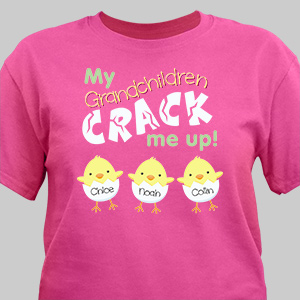 Kids Crack Me Up Easter Tee | Personalized Grandma Shirts