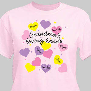 Loving Hearts Personalized T-Shirt 3894x