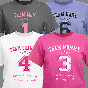 Personalized Team Mom T-Shirt 39409X