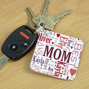 Personalized In Our Hearts Memorial Key Chain | Personalized Gifts for Mom