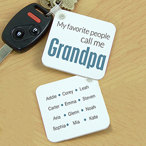 Personalized Favorite Grandpa Key Chain | Gifts for Grandpa