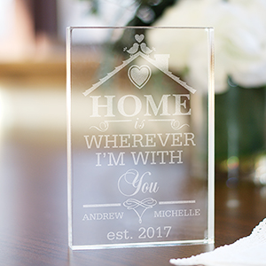 Engraved Home is Wherever I'm With You Acrylic Keepsake 399694