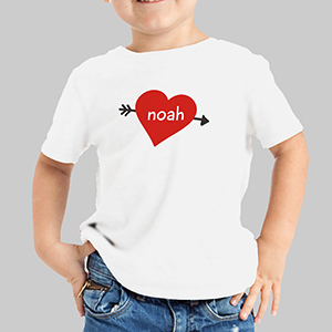 Cupid's Heart Personalized Youth T-Shirt