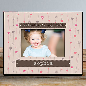Personalized Strings Of Hearts Photo Frame