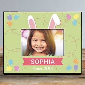 Personalized Bunny Ears Kids Photo Frame
