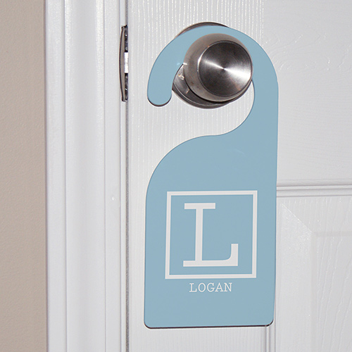 Baby Monogram Personalized Door Hanger | Personalized Baby Gifts