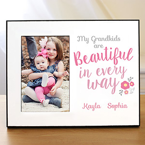 Personalized Beautiful in Every Way Printed Frame | Personalized Gifts For Grandma