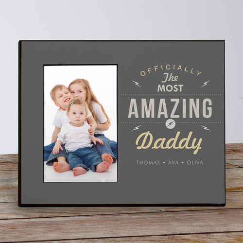 Personalized Most Amazing Printed Frame | Daddy Picture Frames