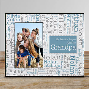 Favorite People Word-Art Personalized Printed Frame