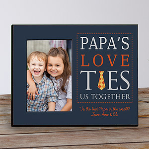 Personalized Dad's Love Ties Us Together Frame