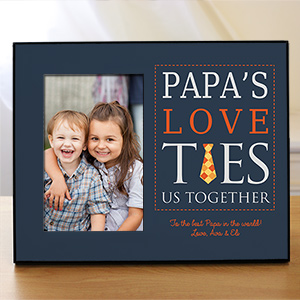 Personalized Dad's Love Ties Us Together Frame | Daddy Picture Frames