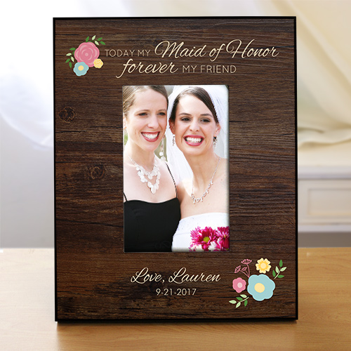 Personalized Forever My Friend Bridemaid Frame | Personalized Picture Frames
