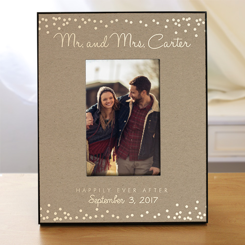 Personalized Mr. and Mrs. Wedding Frame | Personalized Picture Frames