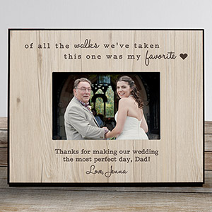 Personalized Favorite Walk Wedding Frame