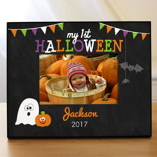 Personalized First Halloween Frame | Unique Halloween Decor