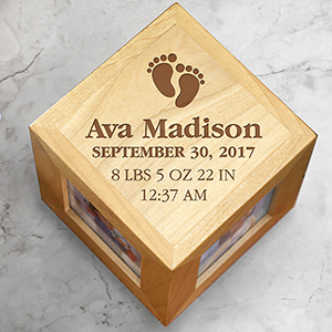 Personalized Baby Photo Cube | Personalized Baby Picture Frames