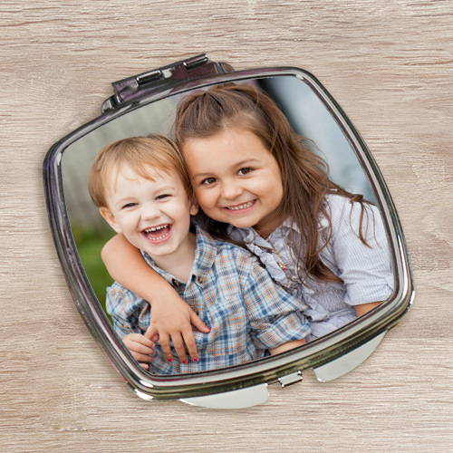 Personalized Digital Photo Compact Mirror | | Mother's Day Photo Gifts