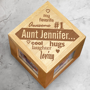 Engraved My Favorite Photo Cube | Personalized Aunt Gifts