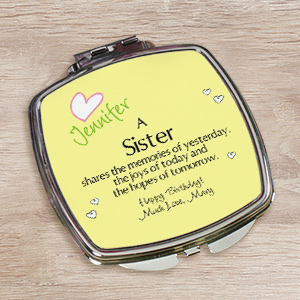 Memories Personalized Compact Mirror | Personalized Sister-In-Law Gifts