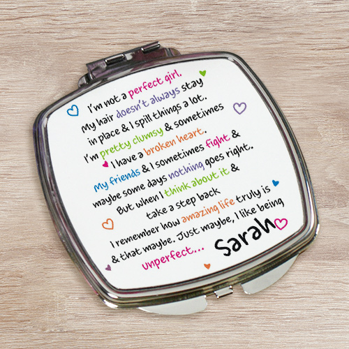 Personalized Digital Photo Compact Mirror