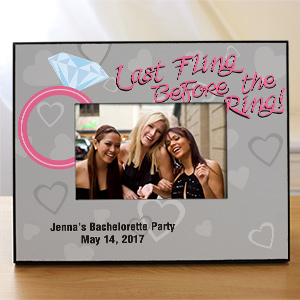Last Fling Personalized Printed Picture Frame | Personalized Picture Frames