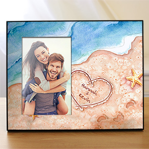 Personalized Shores Of Love Printed Frame 437446