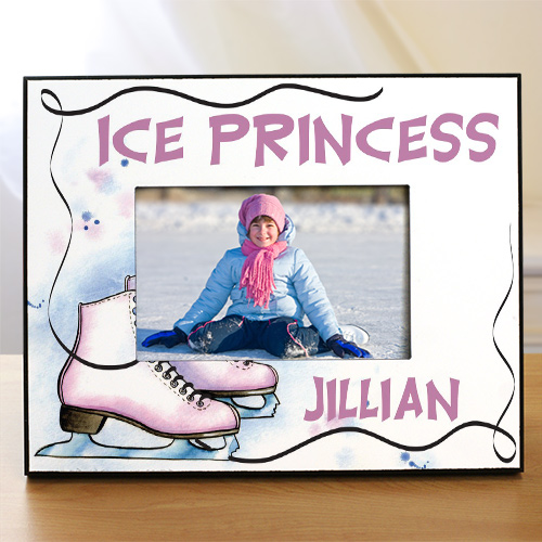 Personalized Ice Skating Printed Frame | Personalized Picture Frames