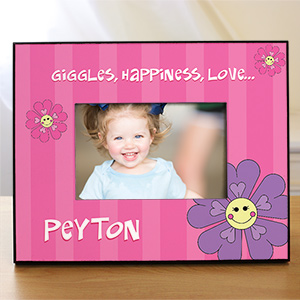 Personalized Flower Printed Frame | Personalized Gifts For Girls