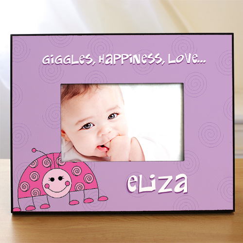Personalized Baby Ladybug Printed Frame | Baby Frames