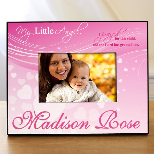 Personalized My Little Angel Printed Frame | Baby Gifts For Girls