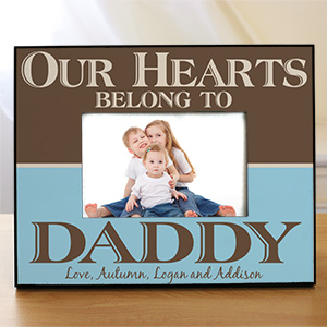 Personalized Our Hearts Belong To Daddy Printed Picture Frame 441560