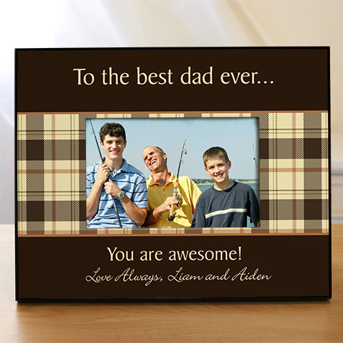 Personalized Any Message Printed Picture Frame | Personalized Father's Day Picture Frames