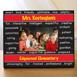 Personalized School teacher Picture Frame | Personalized Teacher Gifts