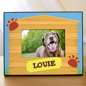 Personalized Dog House Printed Frame | Personalized Picture Frames