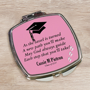 Personalized Graduation Compact Mirror | Graduation Keepsakes