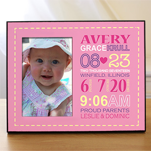 Personalized Girl Birth Announcement Printed Frame 469076