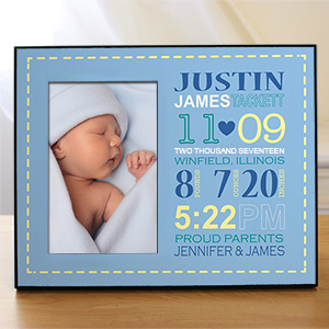 Personalized Boy Birth Announcement Printed Frame 469086