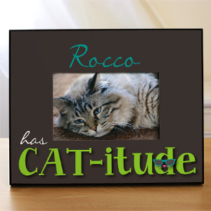 Personalized Cat-itude Printed Frame | Personalized Picture Frames