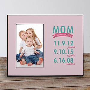 Personalized Mom Established Printed Frame