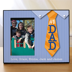 Personalized #1 Dad Printed Frame | Dad Picture Frames