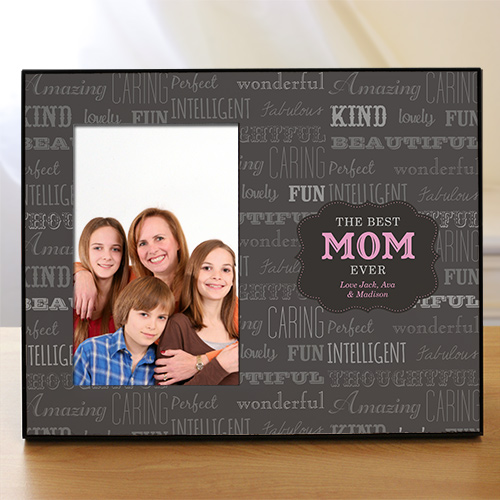 Personalized Best Mom Printed Frame | Personalized Picture Frames