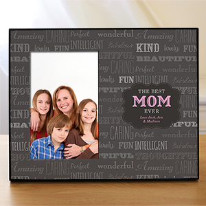 Personalized Best Mom Printed Frame 475786