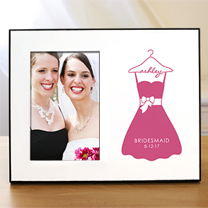 Personalized Bridesmaid Printed Frame | Personalized Picture Frames