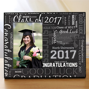 Graduation Word-Art Printed Frame | Graduation Picture Frames