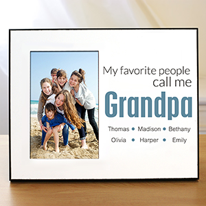 Personalized Favorite Grandpa Printed Frame | Gifts For Grandparents