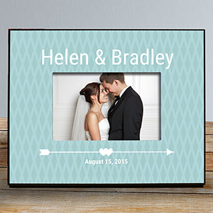 Personalized Cupid's Arrow Couples Frame