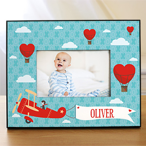 Personalized Up In the Air Kids Photo Frame | Personalized Baby Frames