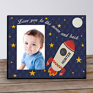 Personalized Love You To the Moon and Back Kids Photo Frame